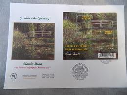 Premier Jour (FDC) Grand Format France 2010 : Les Jardins De Giverny (bloc Feuillet) - FDC