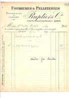 1909 FACTURE P. REVOLLIER RUBANS à SAINT ETIENNE - France