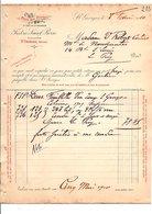 1910 FACTURE FREDERIC SAINT PIERRE VINS CLOS DES PROSES à SAINT GEORGES HERAULT - France