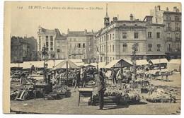 43-LE PUY-La Place Du Martouret...1910  Animé  Le Marché... - Le Puy En Velay