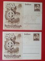 Propagandakarten WW2 SA Reichswettkämpfe 2 AK Berlin 1938 Deutsches Reich - War 1939-45