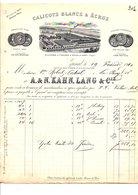 1910 FACTURE A. & N. KAHN. LANG & Cie CALICOTS BLANCS ET ECRUS à EPINAL VOSGES - France