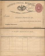 J) 1888 MEXICO, NUMERAL 2 CENTS, MEXICAN POSTAL SERVICE, EAGLE, UNIVERSAL POSTAL UNION, POSTCARD, POSTAL STATIONARY, CIR - Mexico