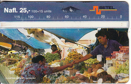 CURACAO - Floating Market, CN : 502A, First Issue 100+15 Units, 02/95, Used - Antilles (Netherlands)