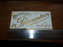 BC1-2-0 LV10 Image D Ancien Emballage Chocolat Des Prémontrés Au Lait Pur 15x7 - Publicités