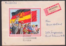 """Germany East FDC DDR 1508, Stamp From Block 39 """"20 Jahre Deutsche Demokratische Republik"""" R-Brief Berlin ZAW (0387) - DDR"""