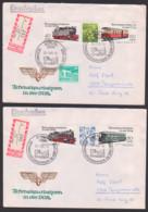 Schmalspurbahnen Der DDR Zdr. FDC 2 R-Briefe, Selketalbahn, Cranzahl-Oberwiesenthal Spurweite750 Mm - [6] República Democrática
