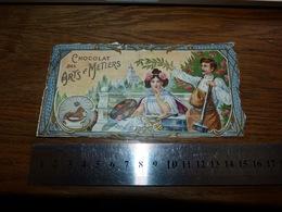 BC1-2-0 LV10 Image D Ancien Emballage Chocolat Des Arts Et Métiers Insigne Delhaize 15x8 - Advertising