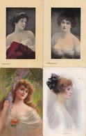 Mizpah Aurora Virginie 4x Antique Glamour Postcard S - Women