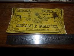 BC1-2-0 LV10 Image D Ancien Emballage Chocolat Delhaize Le Lion Delhaize Frères 18x9cm - Publicités