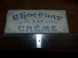 BC1-2-0 LV10 Image D Ancien Emballage Chocolat à La Crème 14x6cm - Publicités