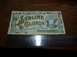 BC1-2-0 LV10 Image D Ancien Emballage Chocolat Sublime Gloria 16x7 Vaulx Lez Tournai - Publicités