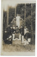 "FOTO AK - "" LETZTE ERINNERUNG AN ZEITHAIN 1911 "" - Characters"