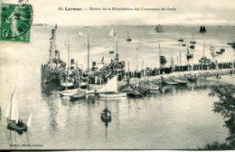 N°72960 -cpa Larmor -retour De La Bénédiction Des Courreaux De Groix- - Larmor-Plage