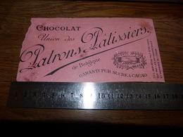 BC1-2-0 LV10 Image D Ancien Emballage Chocolat Union Des Patrons Patissiers De Belgique - Publicités