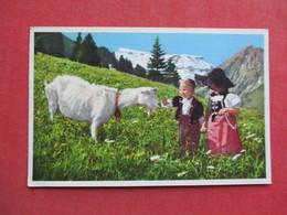Children & Goat  Swiss Mountain   Ref 3373 - Europe