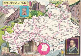 N° 5 - Htes ALPES  Par J.P. Pinchon - Edition :Blondel La Rougery - Maps