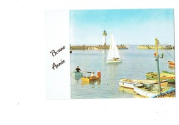 Petite Cpm - 29 - Audierne -  1971 - Bonne Année - Port Breton - Serie H - N°14 Jean - Voile Phare - Audierne