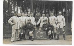 "FOTO AK - "" PLAUEN BEI DER 8. RES. KOMP. -  ZEITHAIN  ""  1908 - Characters"