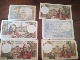 Lot De 6 X Billets Francais - Coins & Banknotes