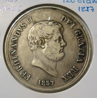 ITALY NAPLES 120 GRANA 1857. SILVER. ARGENT. NAPOLI. ITALIE. - Regional Coins