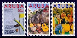 SERIE NEUVE D'ARUBA - FOLKLORE ANTILLAIS N° Y&T 122 A 124 - Kulturen