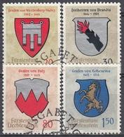 LIECHTENSTEIN 1964 Nº 389/92 USADO - Gebraucht