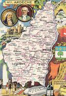 N° 7 - ARDECHE  Par J.P. Pinchon - Edition :Blondel La Rougery - Maps