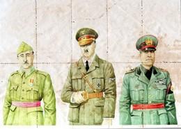 10936--GERMAN EMPIRE-SPAIN-MILITARY PROPAGANDA CIVIL WAR,RATION COUPONS A.HITLER-FRANCO-MUSSOLINI.1942.WWII.Cupones Rac - Germany