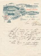 FA 1254  / FACTURE  MANUFACTURE DE   CONFECTIONS   F. HAMEL &G. KAUFFMANN LISIEUX  1914 - Textile & Clothing