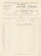 FA 1256  / FACTURE - BONNETERIE MERCERIE JOUVIN FRERES   BERNAY  1910 - Textile & Clothing