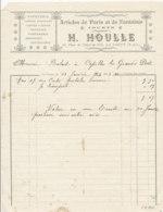 FA 1260  / FACTURE -   ARTICLE DE PARIS  PAPETERIE CRAVATES PARFUMERIE H. HOULLE  LA LOUPE    1913 - Chemist's (drugstore) & Perfumery