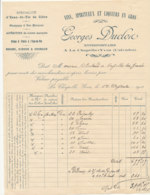 FA 1265  / FACTURE -    VINS   & SPIRITUEUX   GEORGES DUCLOC  LA CHAPELLE YVON   1911 - Food