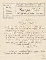 FA 1266  / FACTURE -    VINS   & SPIRITUEUX   GEORGES DUCLOC  LA CHAPELLE YVON   1911 - Food