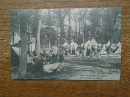 """édition Cartes D'autrefois """" Les Zouaves Au Camp , Un Ensemble Du Camp """""""" Zouaves De 1914 """""""" - Regiments"""
