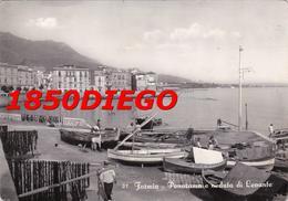 FORMIA - PANORAMA E VEDUTA DI LEVANTE F/GRANDE VIAGGIATA 1951 ANIMATA - Latina