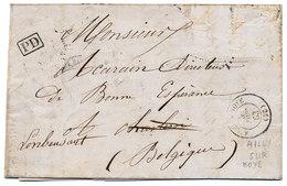 1863 BRIEF Van AILLY SUR NOYE(FR) Naar LAMBUSART Via CHARLEROY En FLEURUS En FRANCE PAR AMBt MIDI 1 Op Rug Zie Scan(s) - Belgium