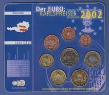 Österreich Euro-Set Kpl. Satz 8 Münzen Im Blister EURO-Karlspreis 2002 - Monedas