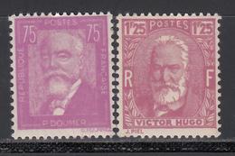 1935-36  Yvert Nº 292, 293   MNH - Francia