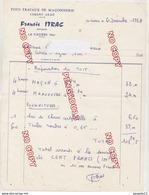 Au Plus Rapide Var La Cadière D'Azur Facture Maçon Itrac Décembre 1964 - France