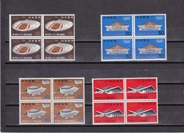 Japon Nº 787 Al 790 En Bloque De Cuatro - 1926-89 Emperador Hirohito (Era Showa)