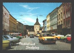 Vöcklabruck - Stadtplatz - Vintage Car / Auto Opel, Mercedes, .. - Vöcklabruck