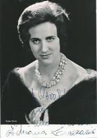 OPERA Italian Mezzo Soprano ADRIANA LAZZARINI - Autograph Hand Signed Dedicacee - Photo 15x10 1964 - Dédicacées