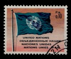 Nations Unies Genève 1969 Mi.Nr: 2 UNO-Flagge  Oblitèré / Used / Gebruikt - Office De Genève