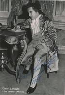 OPERA Italian Tenor CARLO ZAMPIGHI In Manon - Autograph Hand Signed Dedicacee - Photo 15x10 1955 - Dédicacées