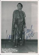 OPERA Italian Baritone GIAN GIACOMO GUELFI As Romulus - Autograph Hand Signed Dedicacee - Photo PC 15x10 1955 - Dédicacées