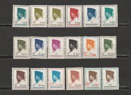Indonésie Lot De 42 Timbres Président Sukarno - Indonesia