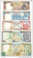 SYRIA 50 100 200 500 1000 LIRA 1997 1998 P-107 108 109 110 111 UNC SET - Syria