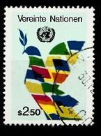 Nations Unies Wenen 1980 Mi.Nr: 8 Flaggen Bilden Friedenstaube  Oblitèré / Used / Gebruikt - Centre International De Vienne