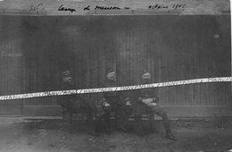 1909 / CARTE PHOTO / 116e - 316e RI ( VANNES )/ CAMP DE MEUCON / OFFICIERS NOMMÉS ??? 116e - 316e RÉGIMENT D' INFANTERIE - Guerre, Militaire